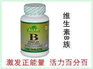 美国ALFA B-Complex 谷物提取物营养片 100粒