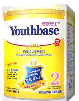 育婴博士超金钻牛奶粉2段(800G)