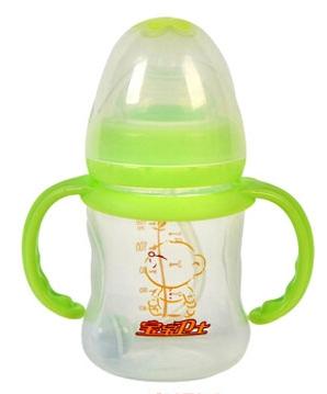 宝宝卫士宽口径防滑易握PP婴儿奶瓶
