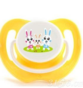 阳光兔安抚奶嘴三阶段黄色