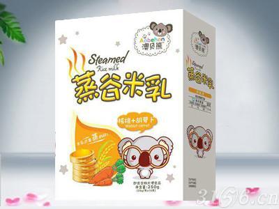 蒸谷米乳 核桃+胡萝卜