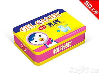 乳钙凝胶糖果铁盒